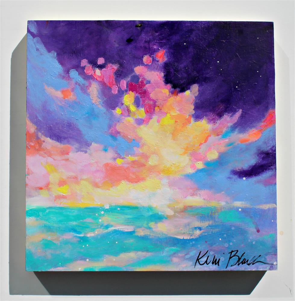 """Clouds and Sea "" original fine art by Kerri Blackman"