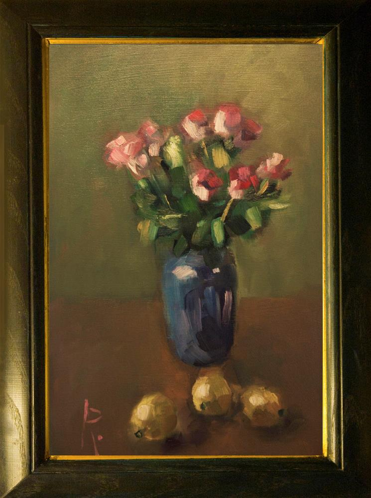"""Roses with Lemons"" original fine art by Andre Pallat"