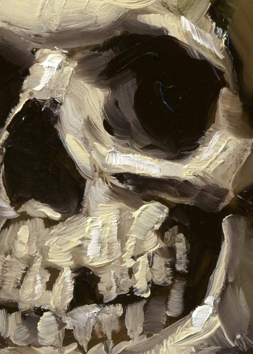 """Skull"" original fine art by John Larriva"