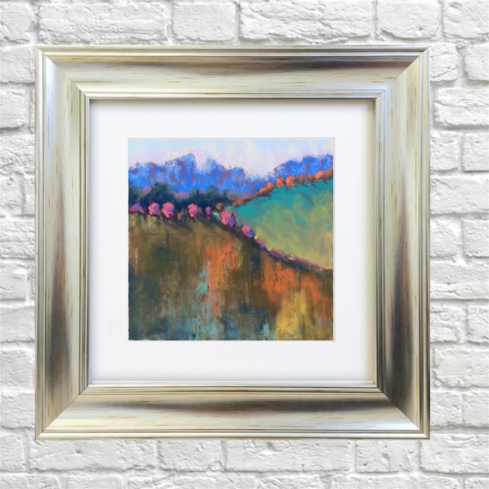 """Abstract Autumn Landscape"" original fine art by Elcin Ozcan"
