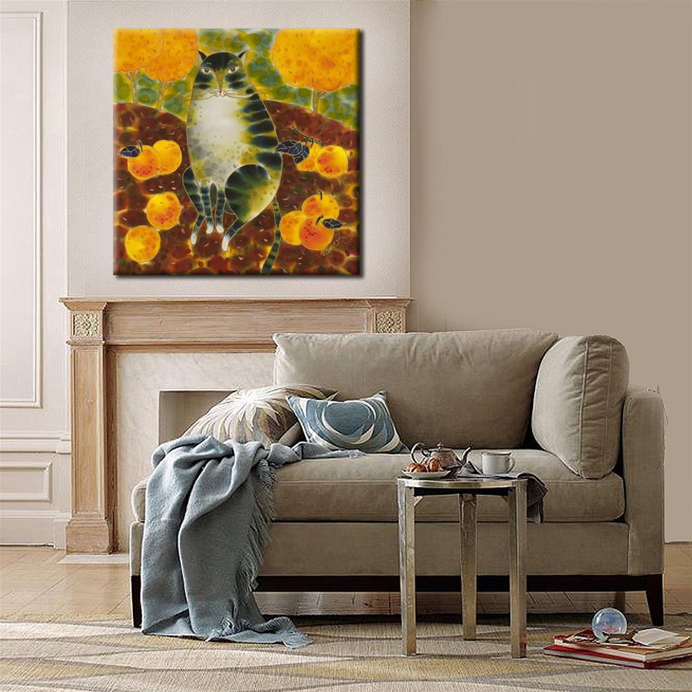 """Apple Cat"" original fine art by Yelena Sidorova"