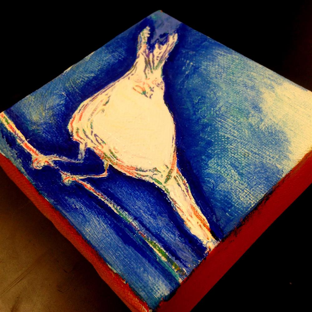 """Bird Alert"" original fine art by Nicole Saunders"