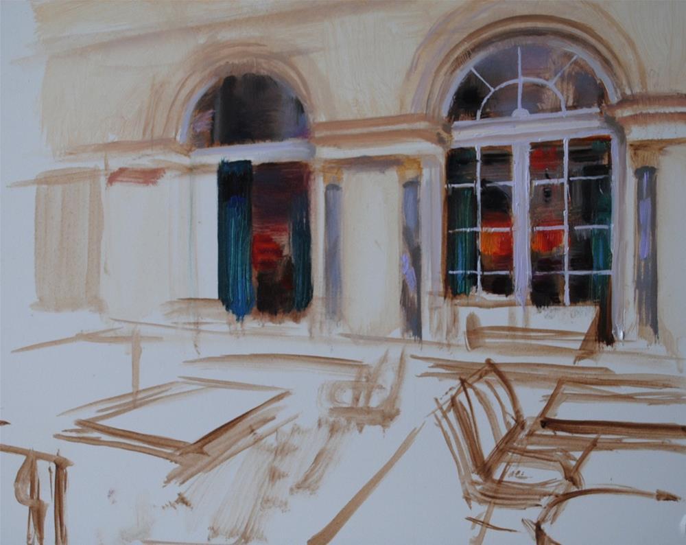 """Day 2. Continuing my new painting..."" original fine art by Elena Katsyura"