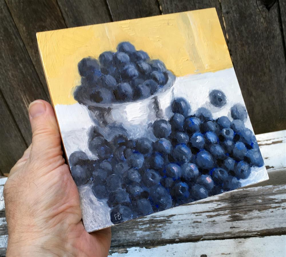 """064 Blueberries"" original fine art by Fred Bell"