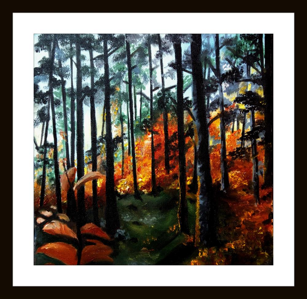 """Autumn Forest"" original fine art by Laura B."