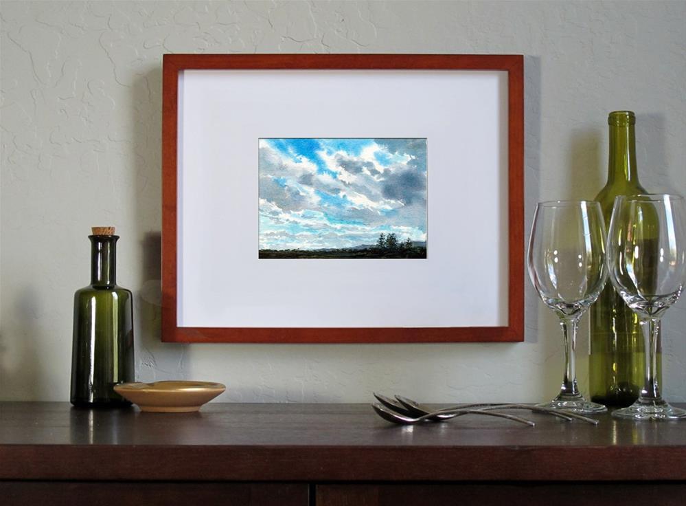 """""""Blue Skies"""" original fine art by Linda Henry"""