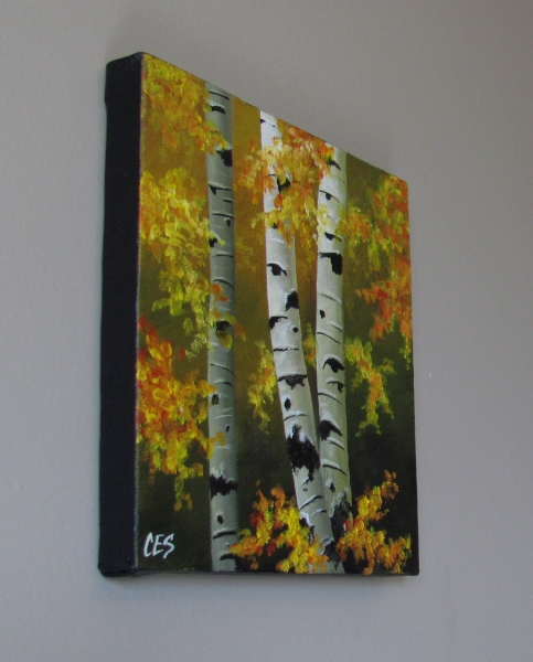 """For the Love of Painting Birch Trees"" original fine art by ~ces~ Christine E. S. Code"