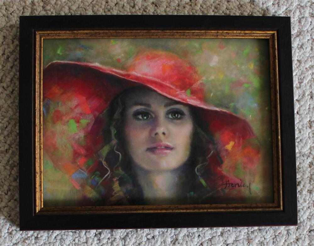 """A Favorite Hat 2"" original fine art by Denise Henley"