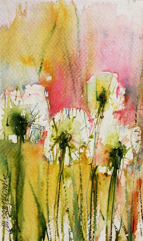 """Dandelion 8"" original fine art by Marlena Czajkowska"