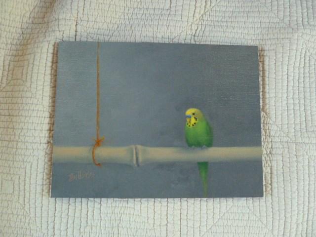 """Study for Benny on Bamboo II"" original fine art by Susanne Billings"