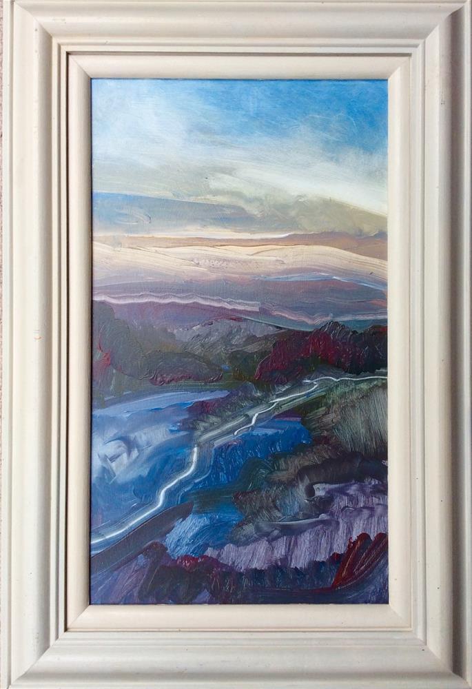 """Cloud Bank over Land"" original fine art by Anne Wood"