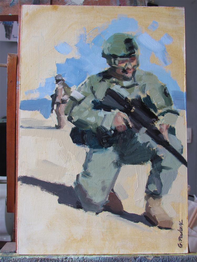 """""""soldat"""" original fine art by gilles Poulizac"""