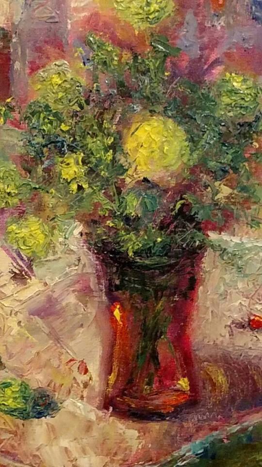 """""""Farmer's Market"""" original fine art by S. Lynne Price"""