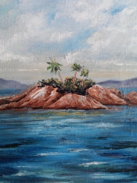 """Island in Ocean"" original fine art by Camille Morgan"