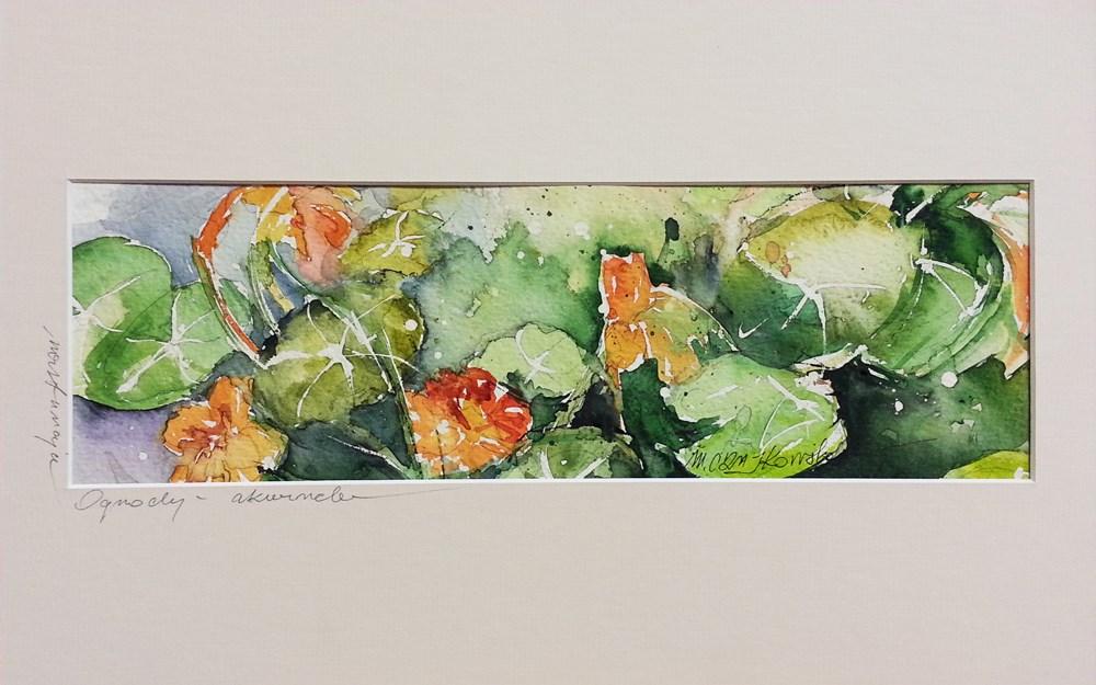 """""""Nasturtiums"""" original fine art by Marlena Czajkowska"""