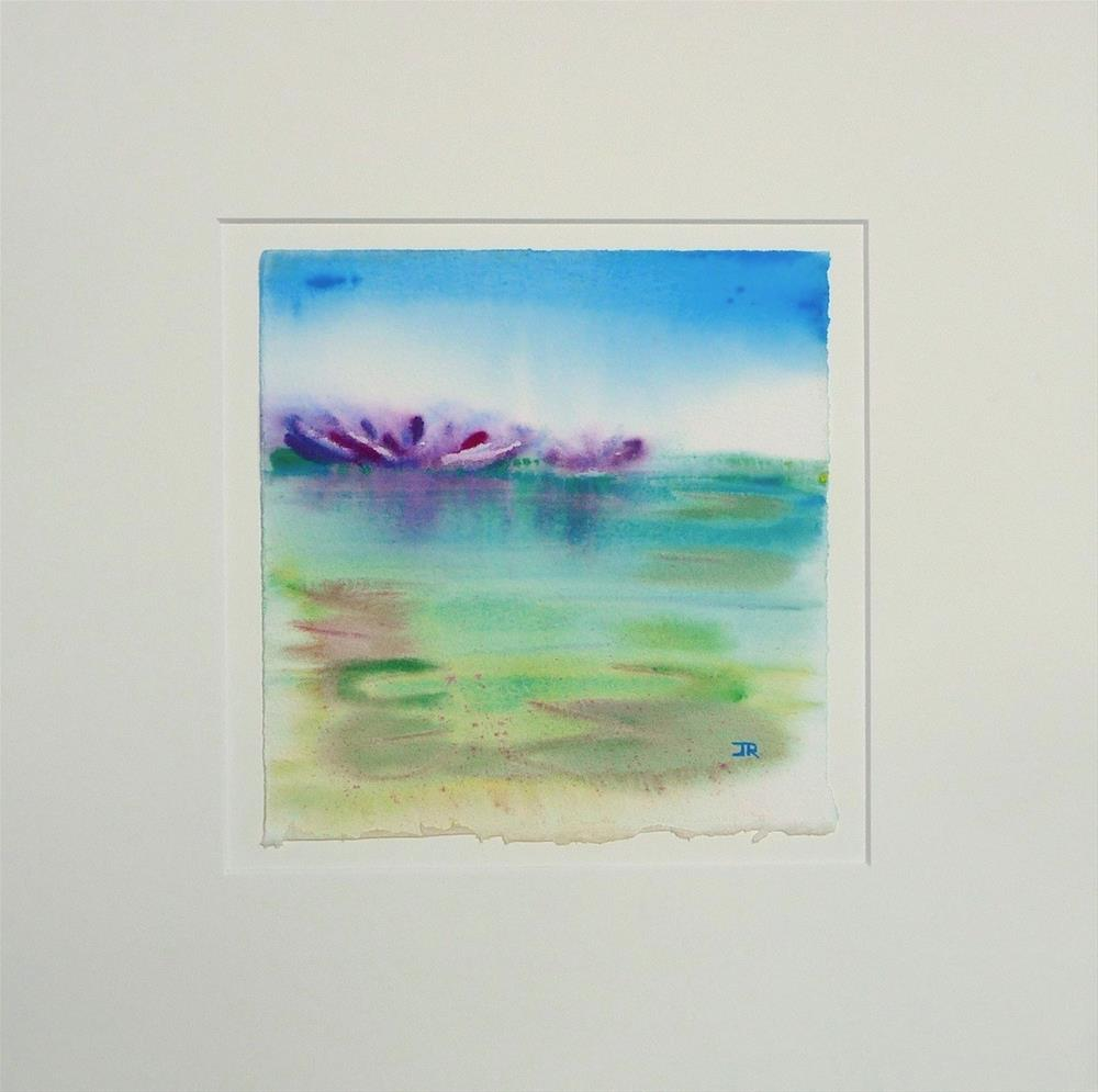 """Water Lilies 2"" original fine art by June Rollins"