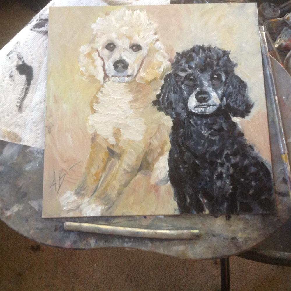 """Maggie and Beau"" original fine art by Annette Balesteri"