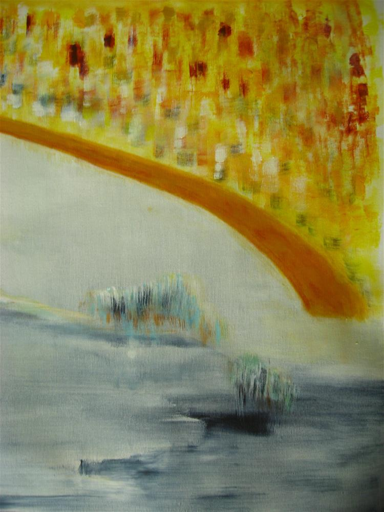 """Yellow City"" original fine art by Alina Frent"