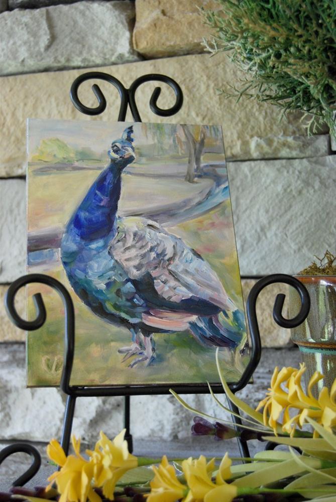 """Proud Birds"" original fine art by Carol DeMumbrum"