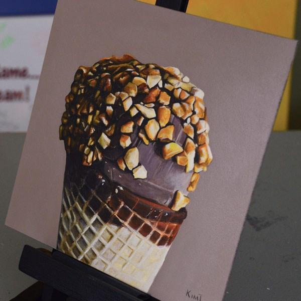 """""""Nutty Buddy"""" original fine art by Kim Testone"""