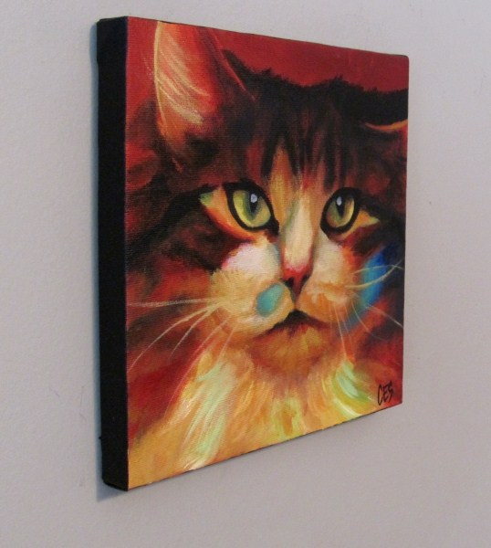 """Calico in Color"" original fine art by ~ces~ Christine E. S. Code"