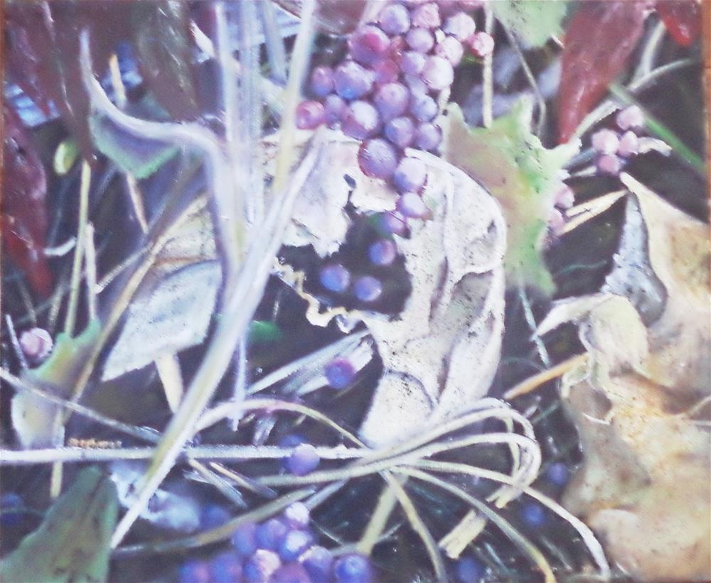 """Grapes Panel one and Two "" original fine art by tara stephanos"