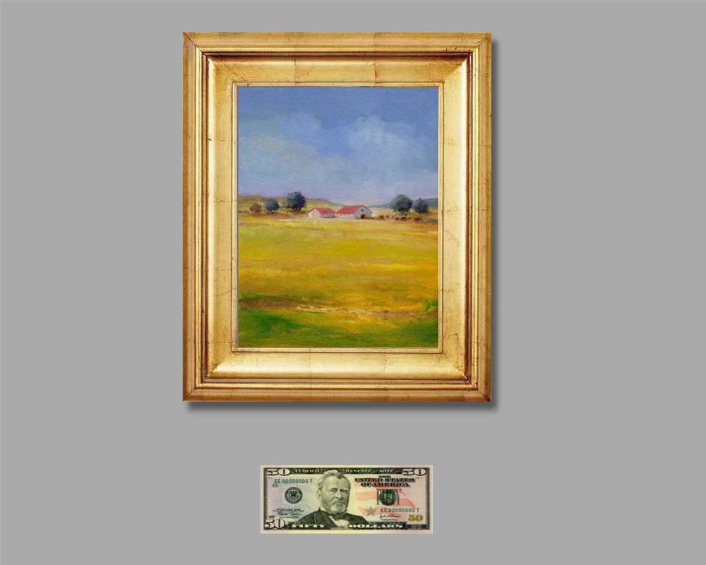 """farm"" original fine art by V. DeBak"