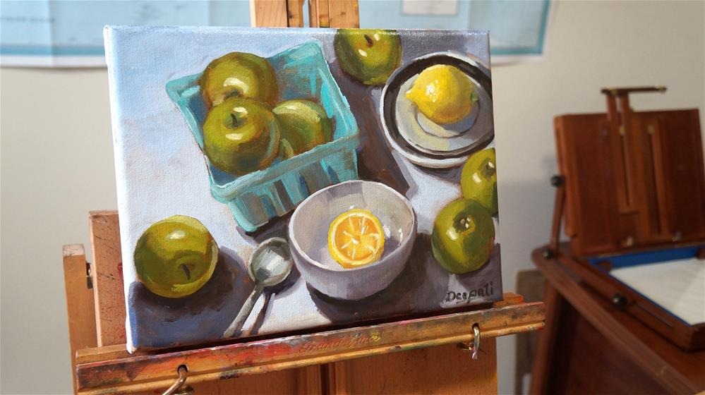 """Apples and Lemons"" original fine art by Dipali Rabadiya"