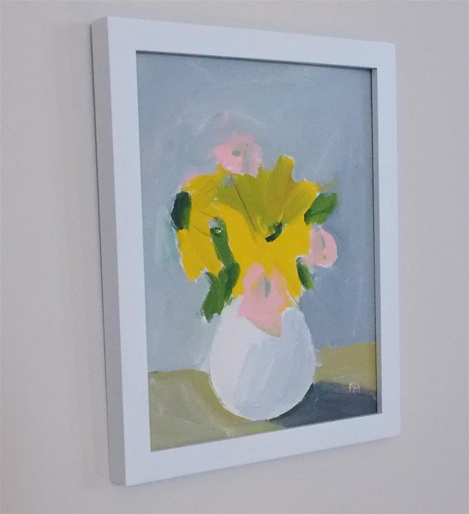 """Yellow in White"" original fine art by Pamela Munger"