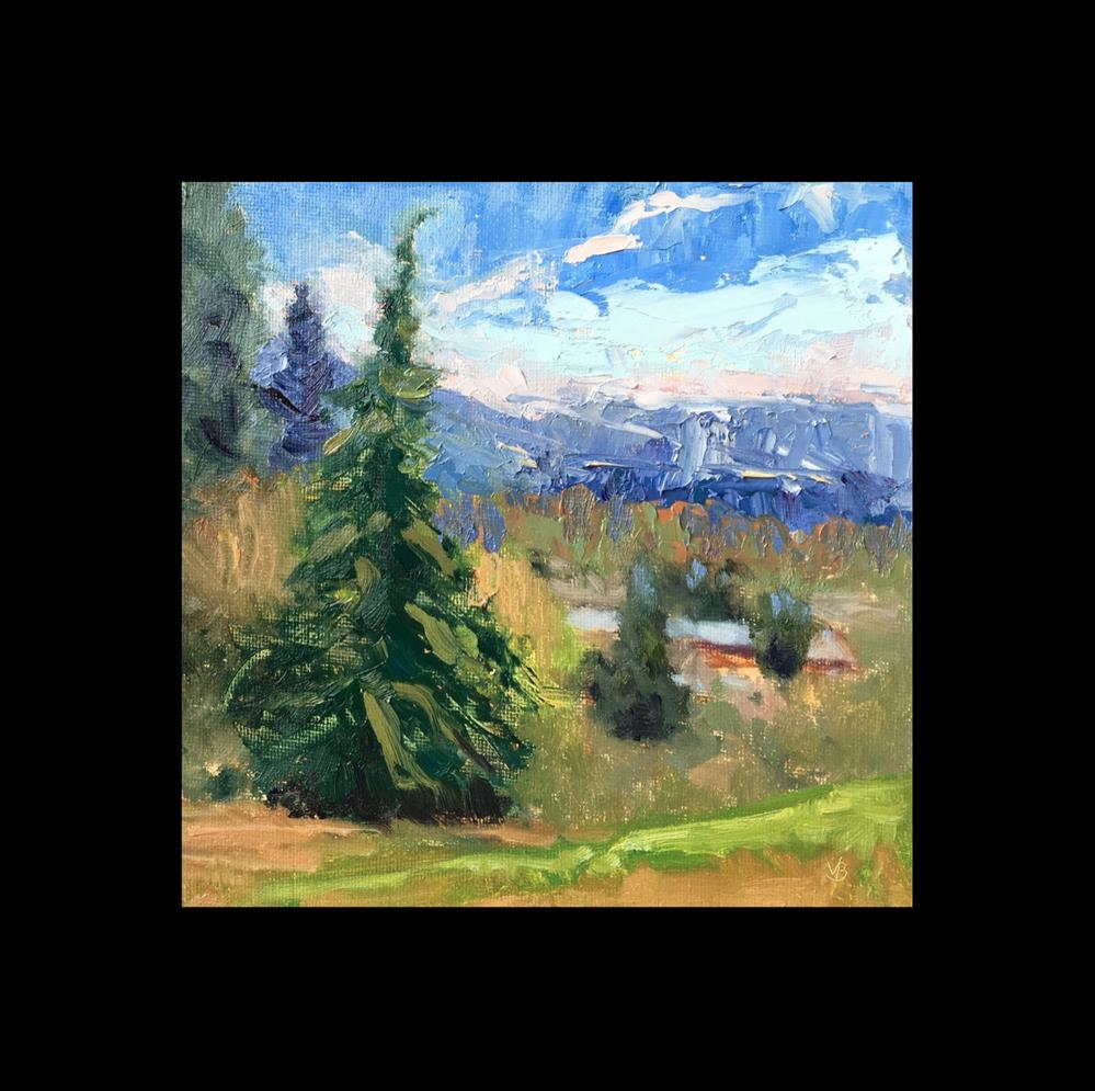 """View from Skinners Butte"" original fine art by Victoria  Biedron"