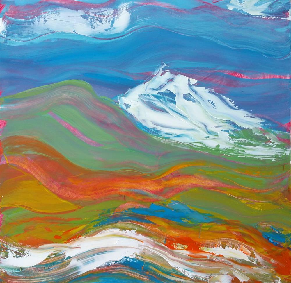 """""""Cascadia 1"""" original fine art by Pam Van Londen"""