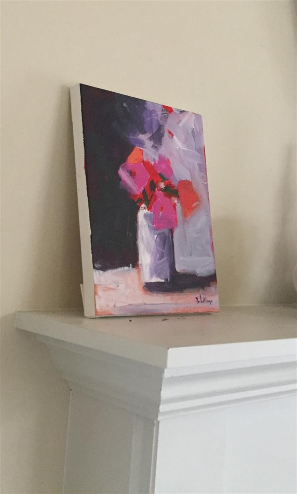 """Flower Drama"" original fine art by Pamela Munger"