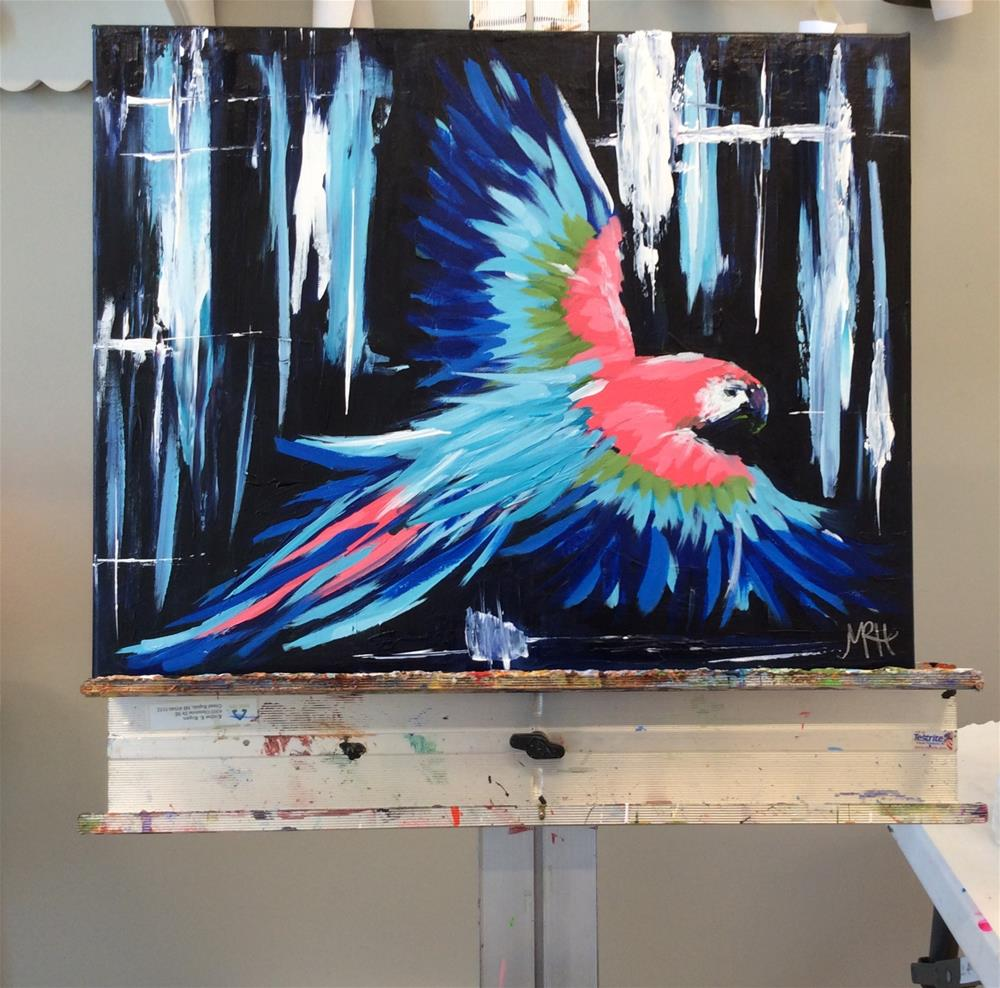 """Musical Macaw"" original fine art by Molly Rohrscheib Hathaway"