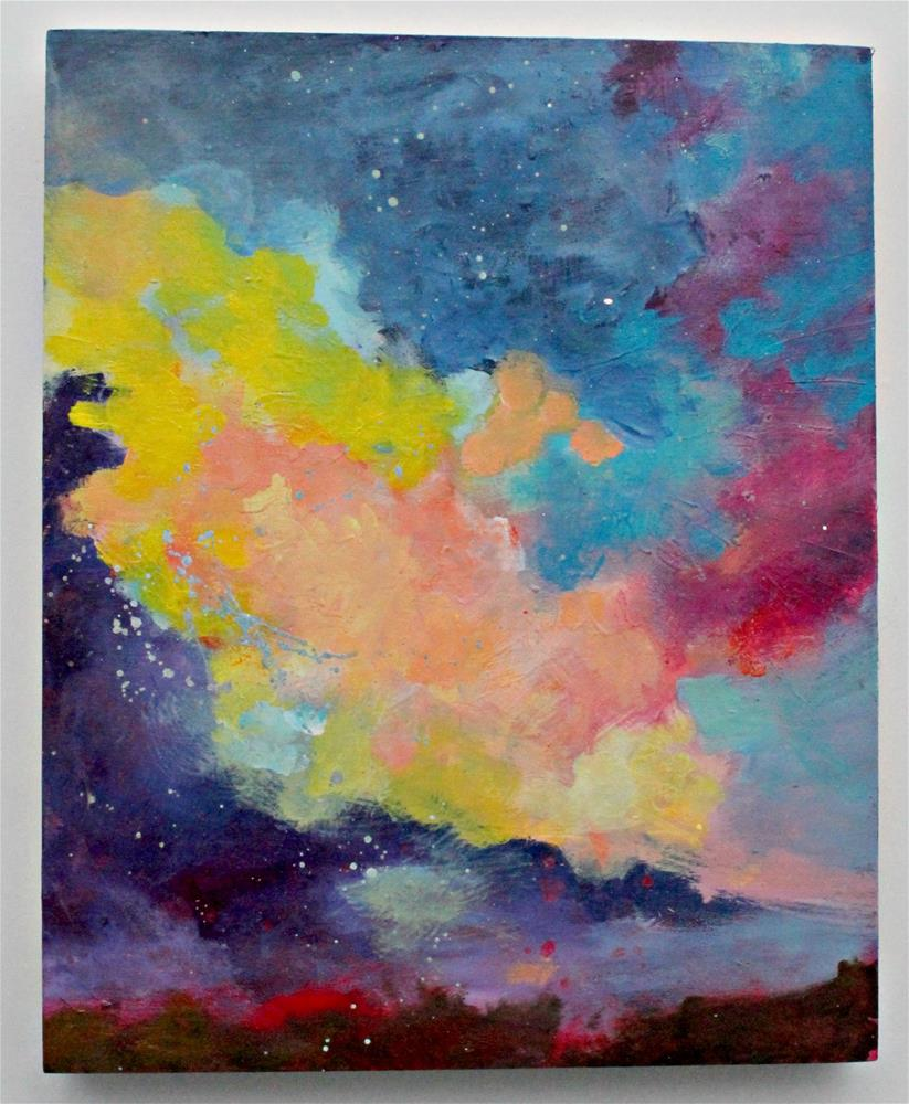 """Evening Clouds "" original fine art by Kerri Blackman"