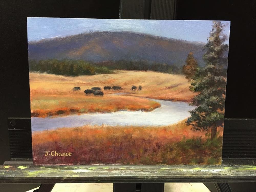 """Yellowstone National Park"" original fine art by Jung Chance"