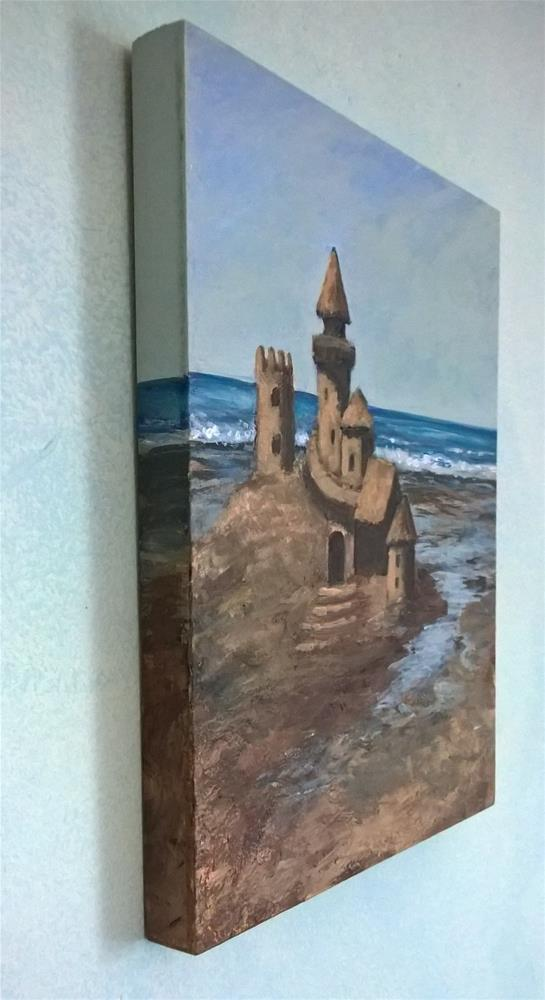 """Sandcastle"" original fine art by Joan Matero"