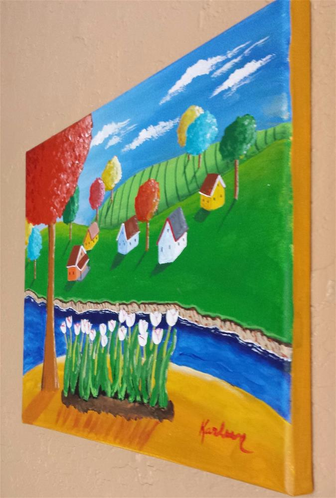 """Tulip Patch"" original fine art by Karleen Kareem"