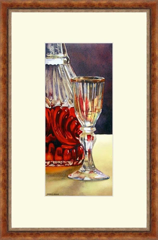 """I Drink Alone"" original fine art by Kara K. Bigda"