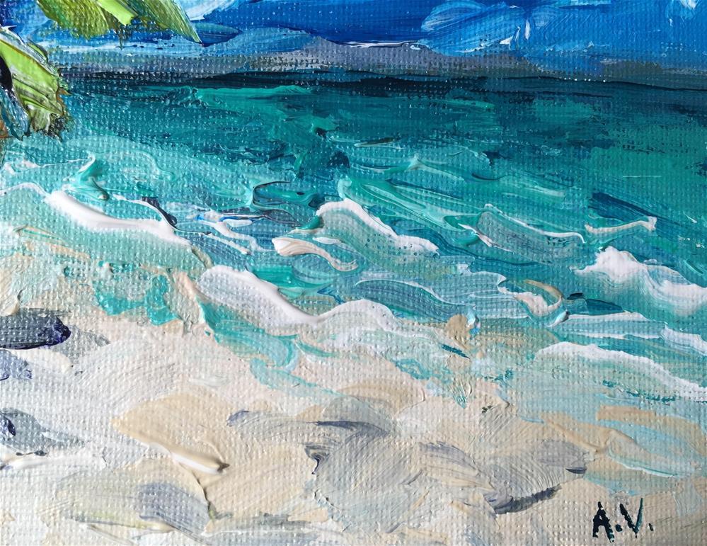 """""""Beach Scene"""" original fine art by Alina Vidulescu"""