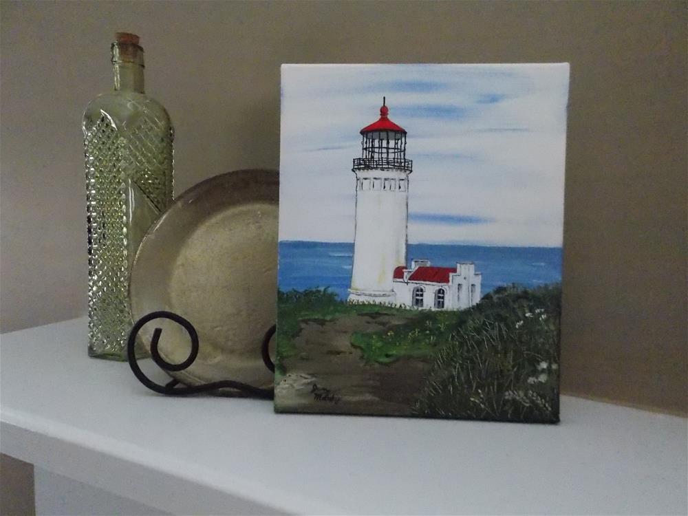 """North Head Lighthouse, Long Beach Washington"" original fine art by Jan Molesky"
