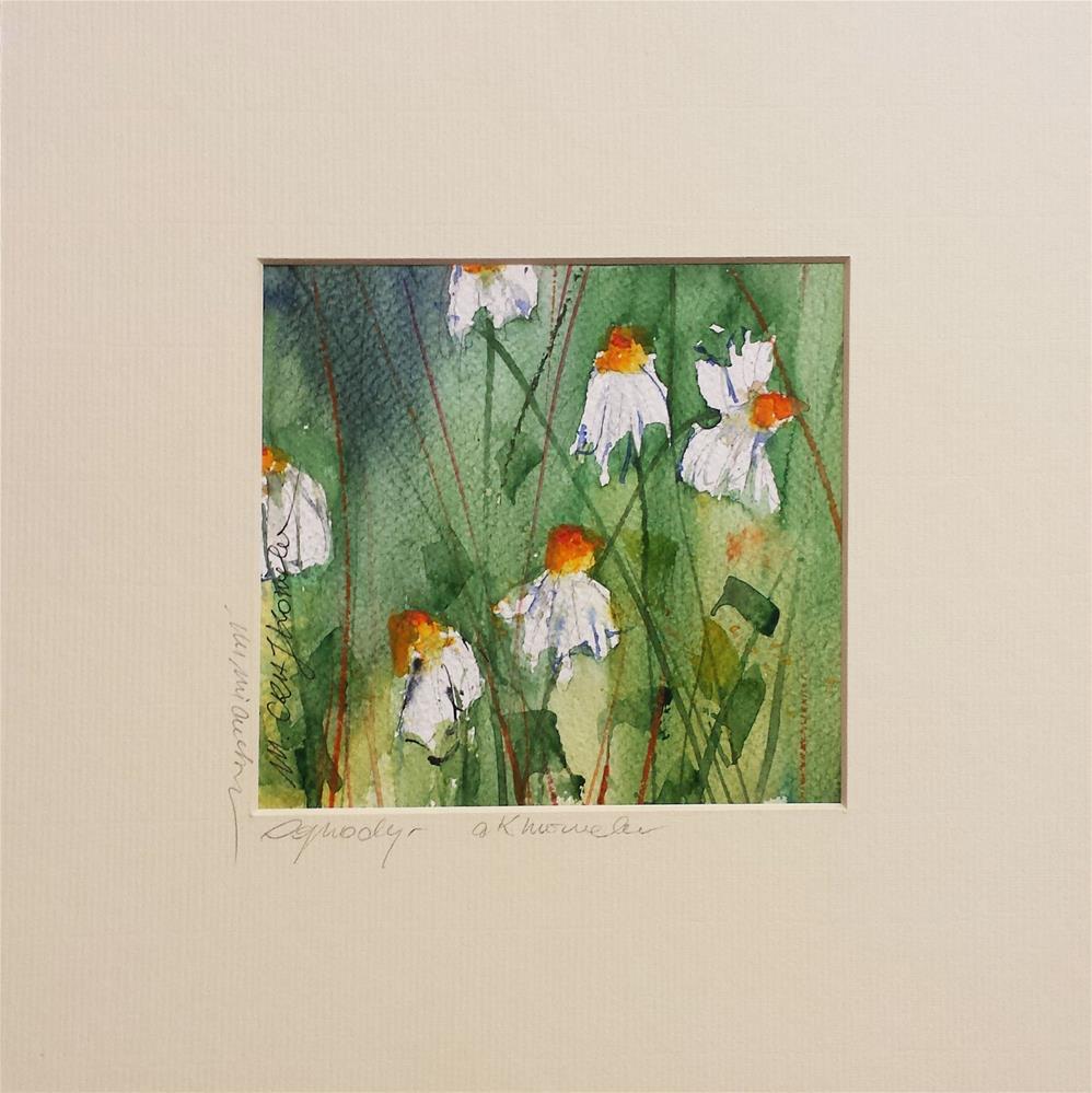 """Camomiles 3"" original fine art by Marlena Czajkowska"