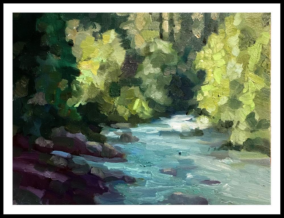 """""""Along the McCloud River"""" original fine art by Sally Rosenbaum"""