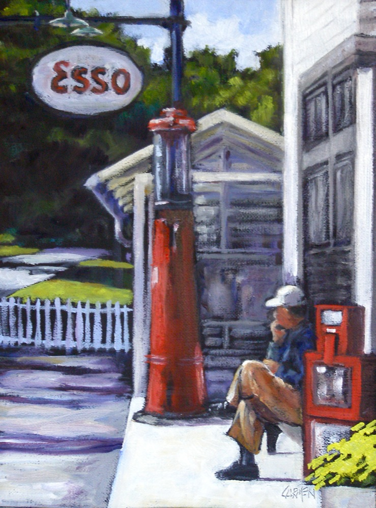 """Mast General Store"" original fine art by Carmen Beecher"