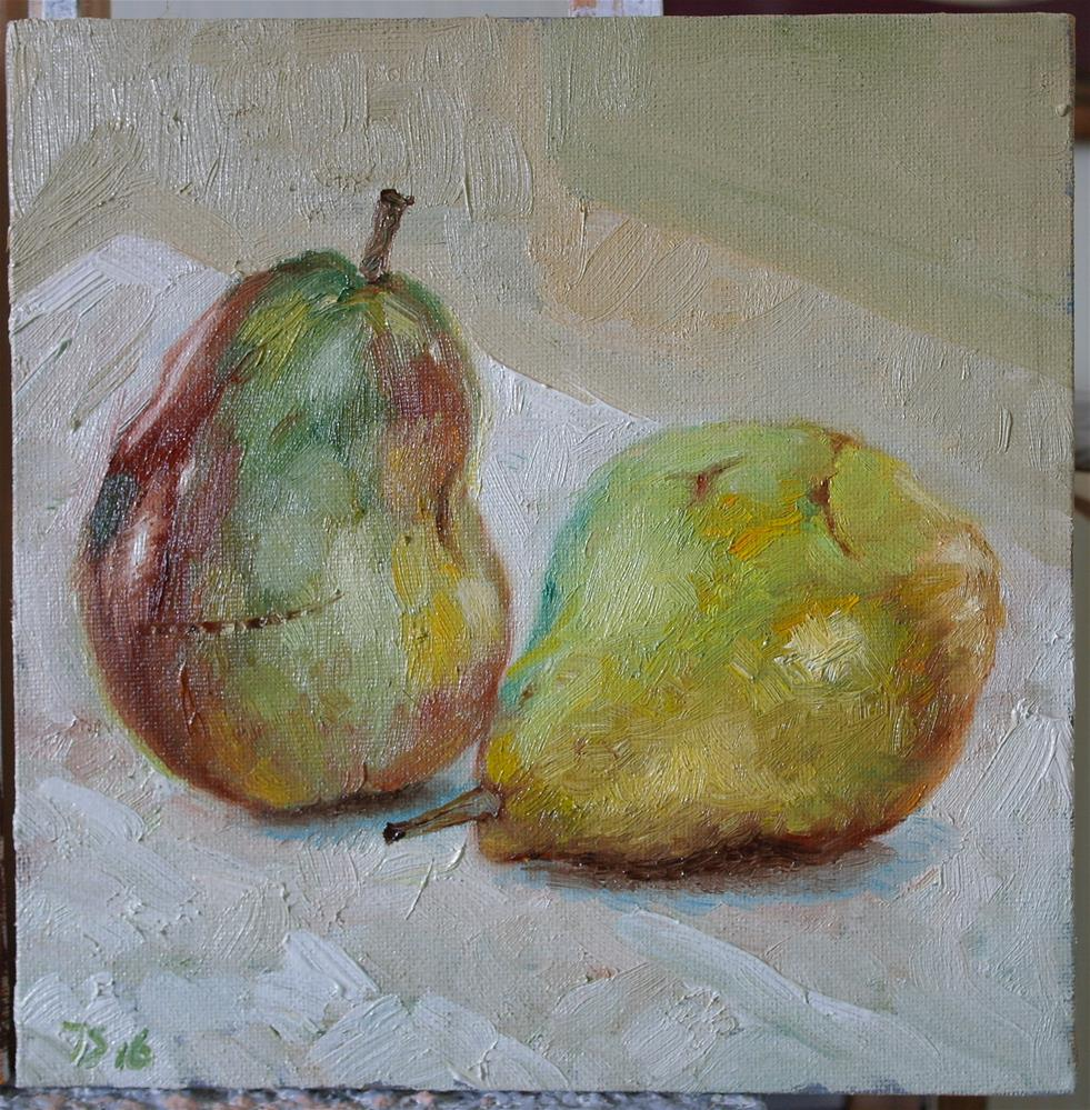 """2 pears 2"" original fine art by Juri Semjonov"