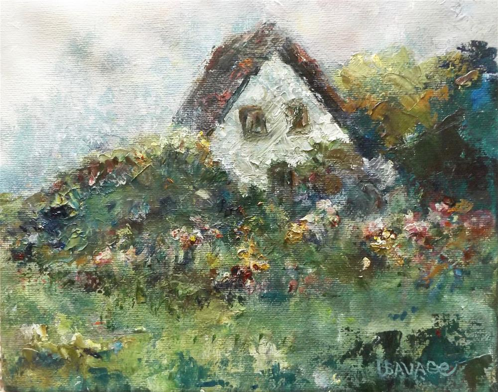 """Garden in the Back"" original fine art by Judy Usavage"