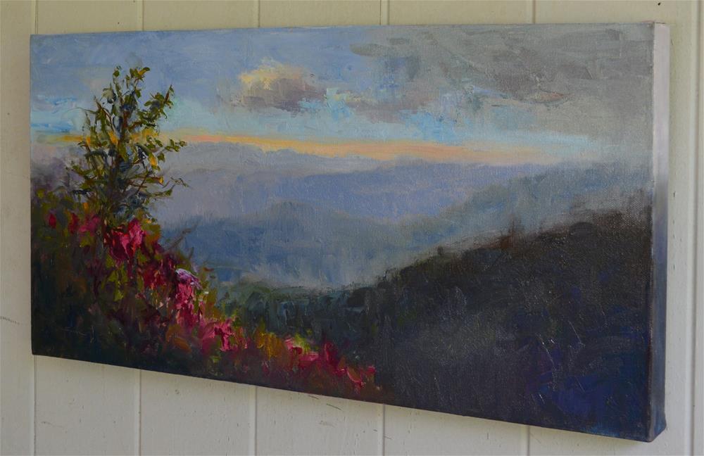 """Azalea on blue ridge mountain"" original fine art by Sun Sohovich"