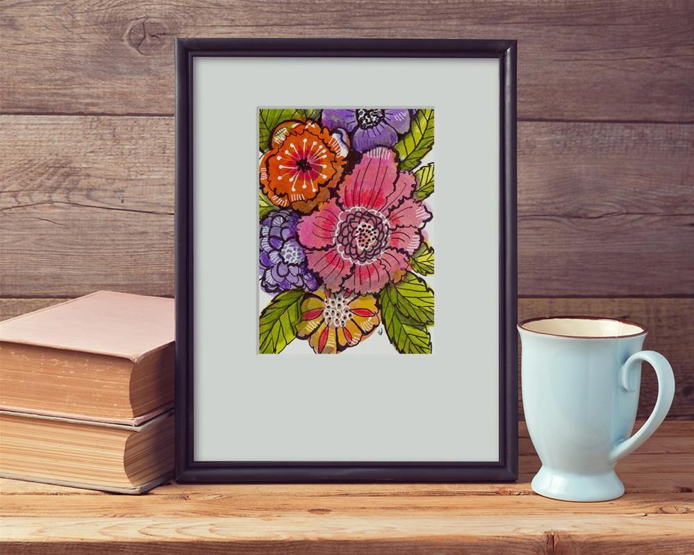 """Garden Fauxtanical 1"" original fine art by Tonya Doughty"