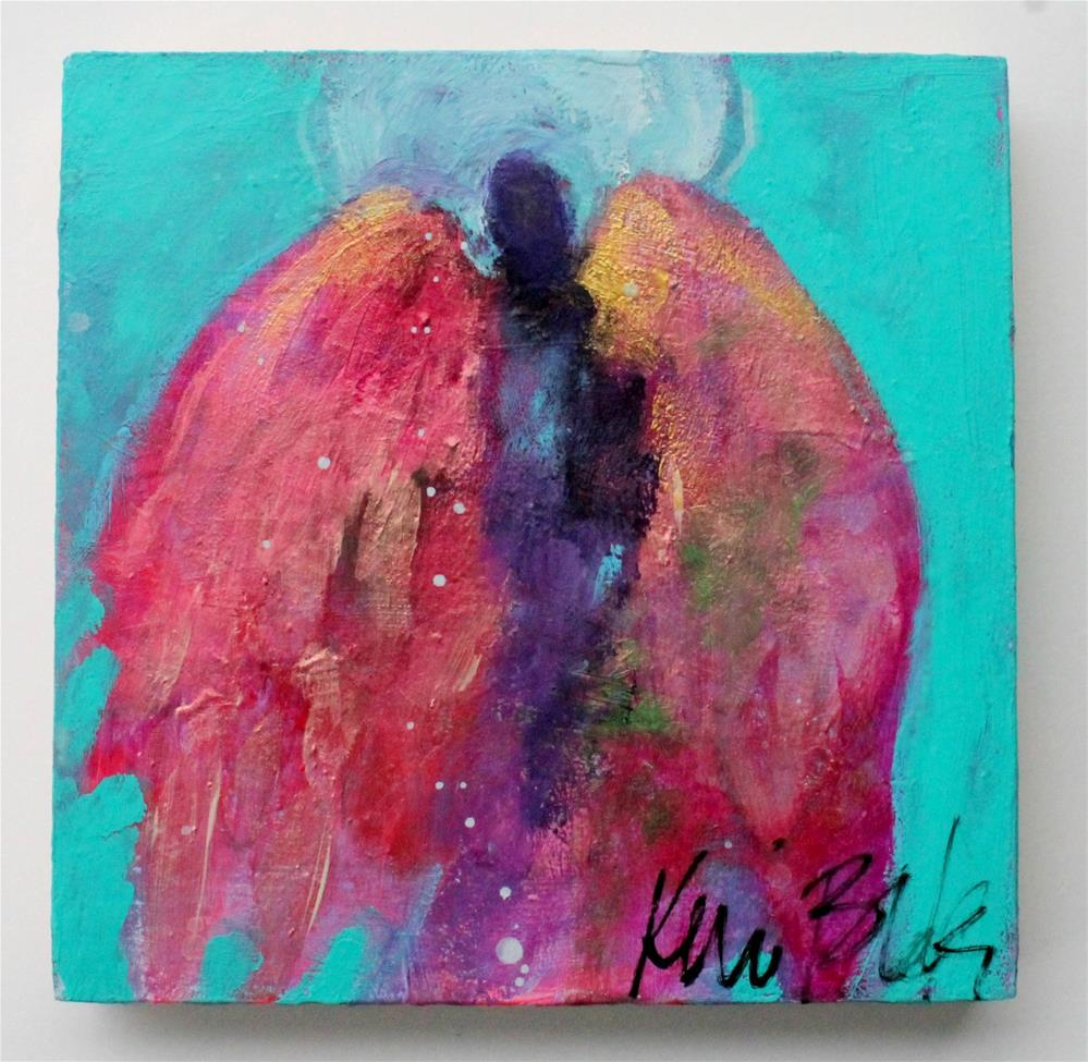 """Small Angels Have Big Jobs "" original fine art by Kerri Blackman"