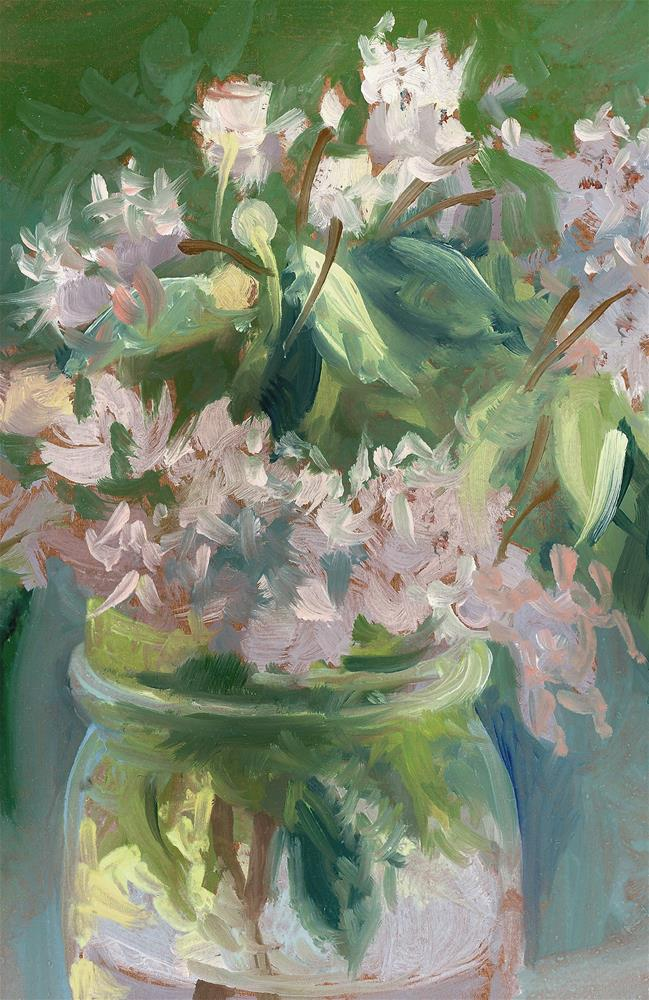 """""""Young Mountain Laurels"""" original fine art by Catherine Twomey"""