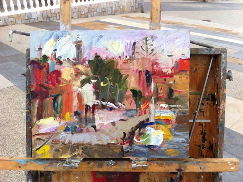 """Cabo de Palos Marina"" original fine art by Anna  Fine Art"